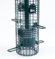 Close-up of closed shroud on Squirrel Buster Classic Feeder