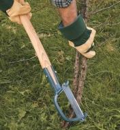 Using the Clearing Axe to remove a small tree