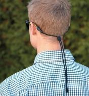 ES193 - Cordon pour lunettes, large, noir (en ligne seulement)