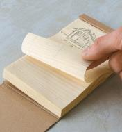 "09A0730 - 3"" x 4"" Wooden Kyougi Notepad"
