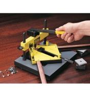 Using the V-Nailer to add V-nails to the mitered corner of a picture frame