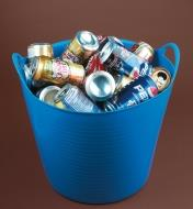 A Tubtrug filled with aluminum pop cans