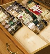 Wooden Spice Drawer Inserts