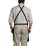 A back view of a man wearing the apron