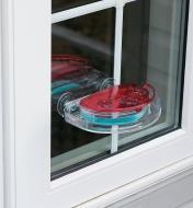 Window Hummingbird Feeder mounted to a window