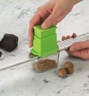 Grating nutmeg with the ZesterMate and Rasp