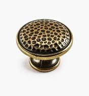 00A7671 - Cobble Suite - 30mm x 22mm Burnished Bronze Knob