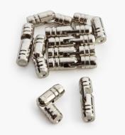 00D8151 - 5mm x 18mm Nickel Plate Pin Hinges, pkg. of 10