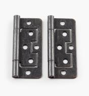 "00H5124 - 3"" x 1"" Bronze Plain-End No-Mortise Hinges, pr"