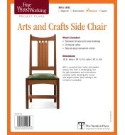 73L2506 - Arts and Crafts Side Chair Plan