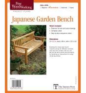 73L2508 - Japanese Garden Bench Plan