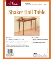 73L2549 - Shaker Hall Table Plan