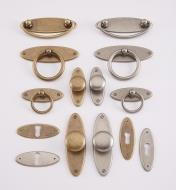 Oval Plate Hardware