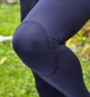 Close-up of knee of Rynoskin pants