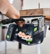 Making upside down cuts with the Festool Carvex PSBC 420 Cordless Pendulum Jigsaw