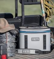 Yeti Hopper Flip 18 Soft-Sided Cooler loaded in the back of a vehicle
