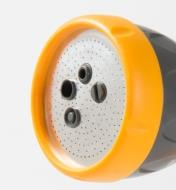 Close-up of sprayer nozzle