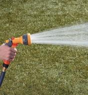 Hozelock Lightweight Sprayer spraying a gentle shower pattern
