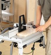 Routing a rabbet on the side of a board using the router table