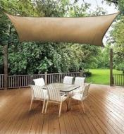 Rectangle Shade Sail installed over a deck