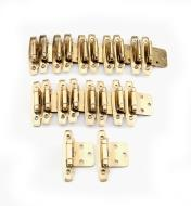 03W3020B - Belwith Brass Flush-Mount Hinges, 10 pr.
