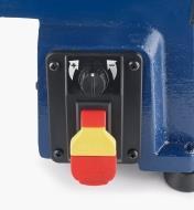 Commande de vitesse numérique et bouton Marche/Arrêt du tour Midi 70-1218VS Rikon