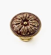 01A5267 - Bouton de 35 mm x 26 mm, Louis XVI, série I, bronze antique