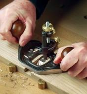 Using the Large Router Plane to cut a channel