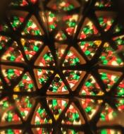 Colorful patterns viewed through the ever-changeable kaleidoscope