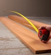 Starrett Exact tape measure with its blade extended