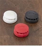 Cord Catchers in white, red and black