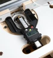Using a digital height gauge to position a router table fence