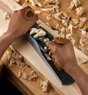 Planing a board with a Veritas Low-Angle Jack Plane