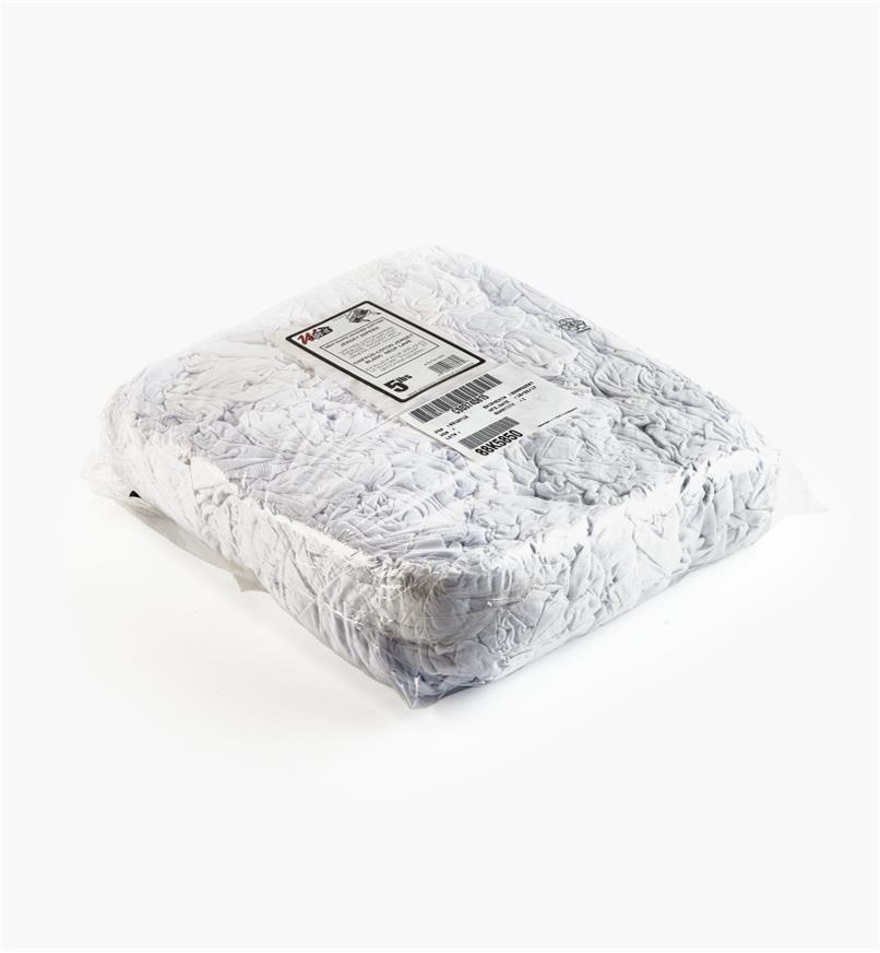 88K5850 - Chiffons absorbants en coton, 5lb