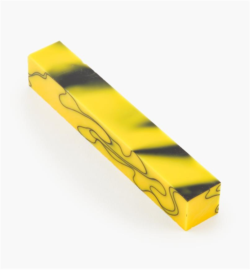 88K7893 - Yellow & Black Acrylic Acetate Blank, each