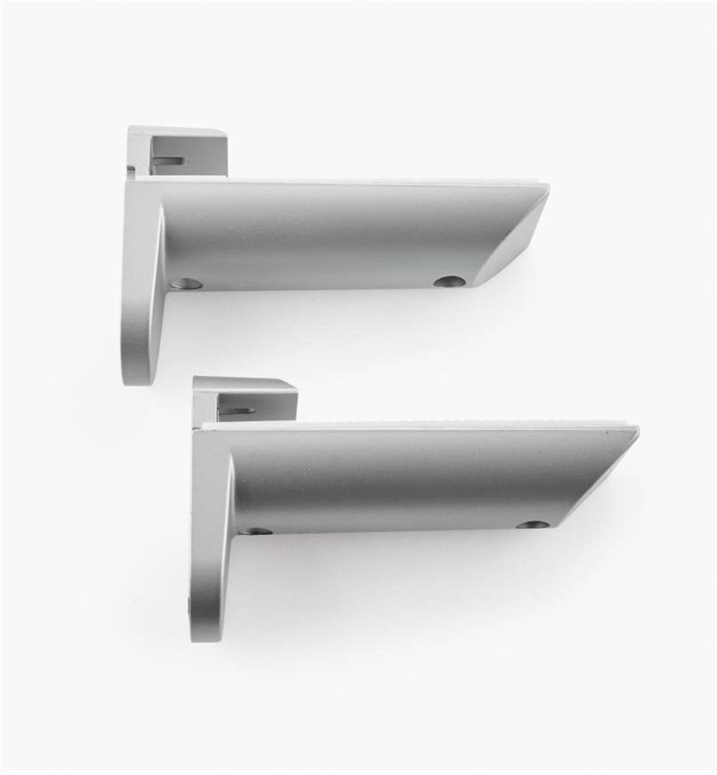 01S1910 - Adj. Shelf Holders, Silver Finish, pair