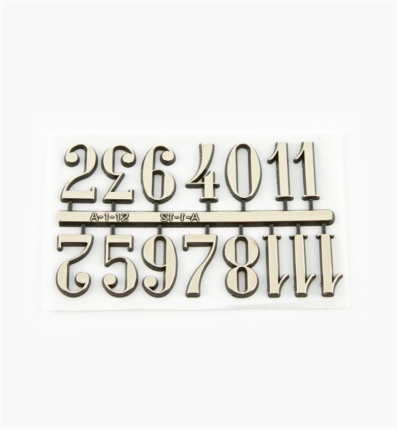 """46K5601 - 1"""" Arabic Adhesive-Backed Numerals, set of 12"""