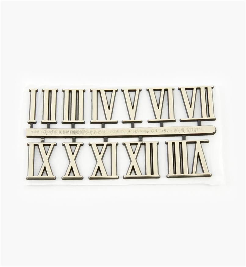 "46K5701 - 1"" Roman Adhesive-Backed Numerals, set of 12"