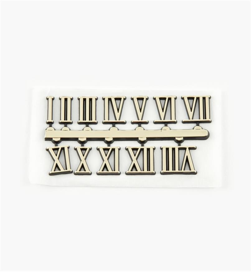 "46K5702 - 5/8"" Roman Adhesive-Backed Numerals, set of 12"