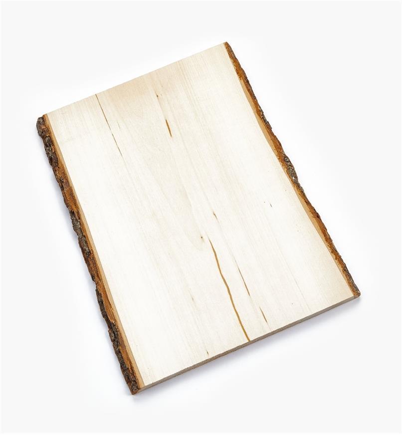 38N1252 - Plaque rectangulaire en tilleul avec écorce, 11po × 16po