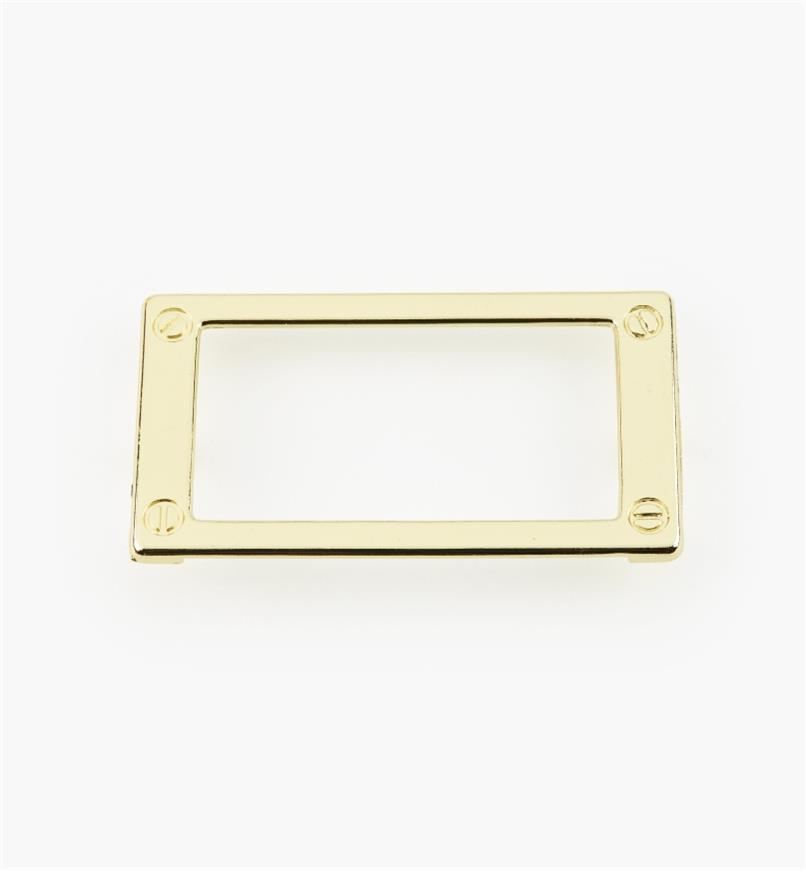 01W3510 - 79mm Brass Plated Card Frame