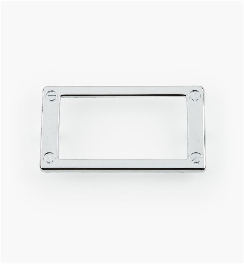 01W3511 - Porte-étiquette en zinc coulé, plaqué chrome, 79 mm
