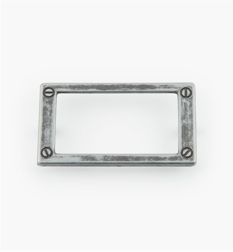 01W3513 - Porte-étiquette en zinc coulé, étain, 79 mm