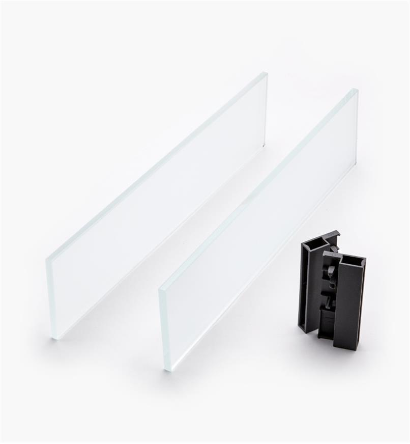 02K2841 - Glass Insert Panels for Blum Tandembox Antaro Soft-Close Type D 400mm Drawer Kit