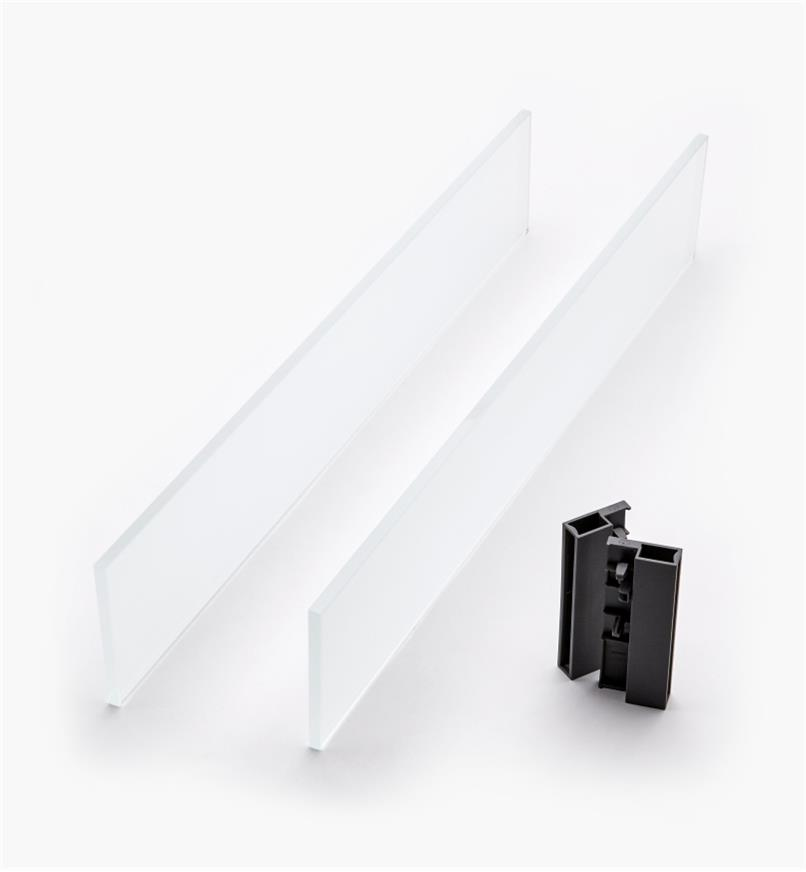 02K2856 - Glass Insert Panels for Blum Tandembox Antaro Soft-Close Type D 550mm Drawer Kit