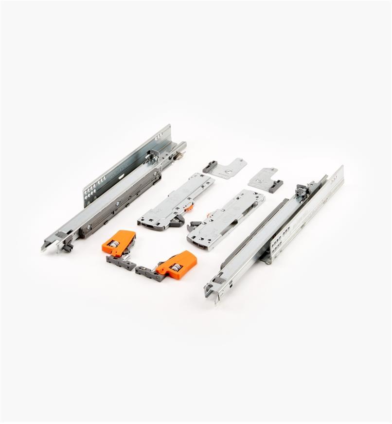 02K5735 - Coulisses pour tiroir Tip-On Movento Blum 350mm lapaire