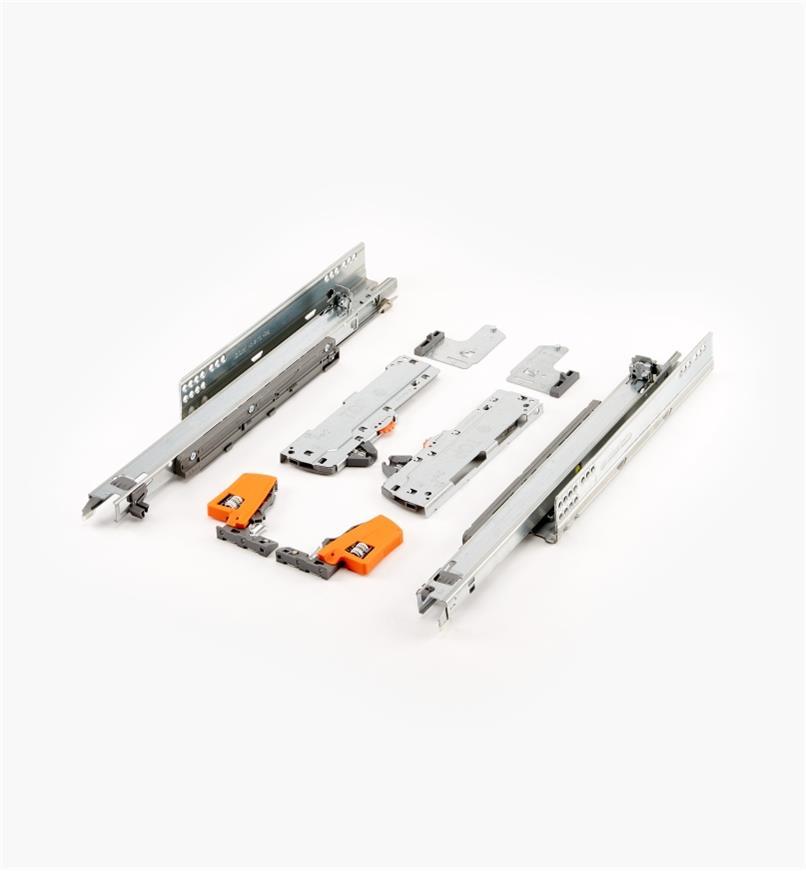 02K5740 - Coulisses pour tiroir Tip-On Movento Blum 400mm (16po), lapaire