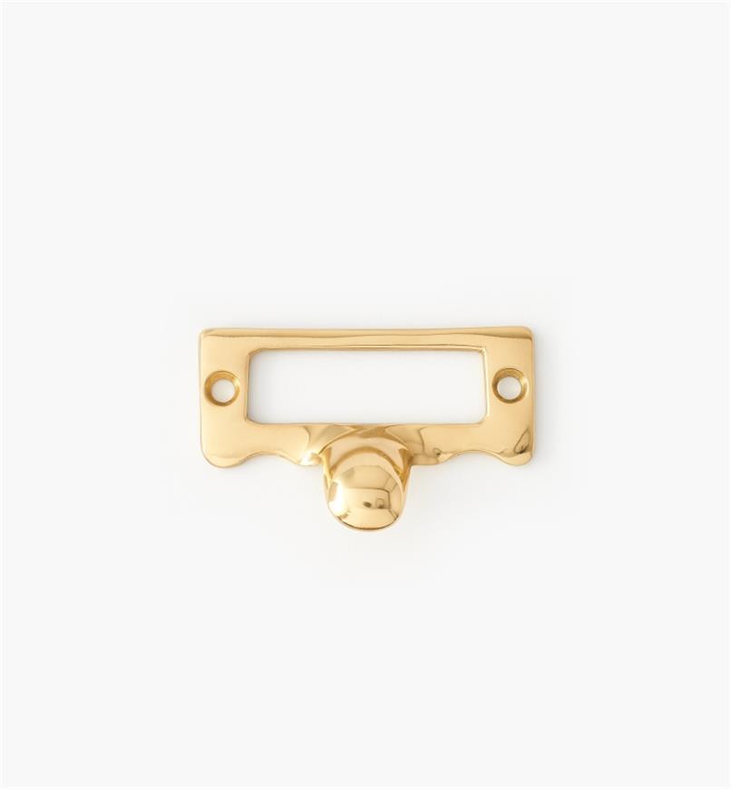 00W8201 - Porte-étiquette à tirette en acier coulé