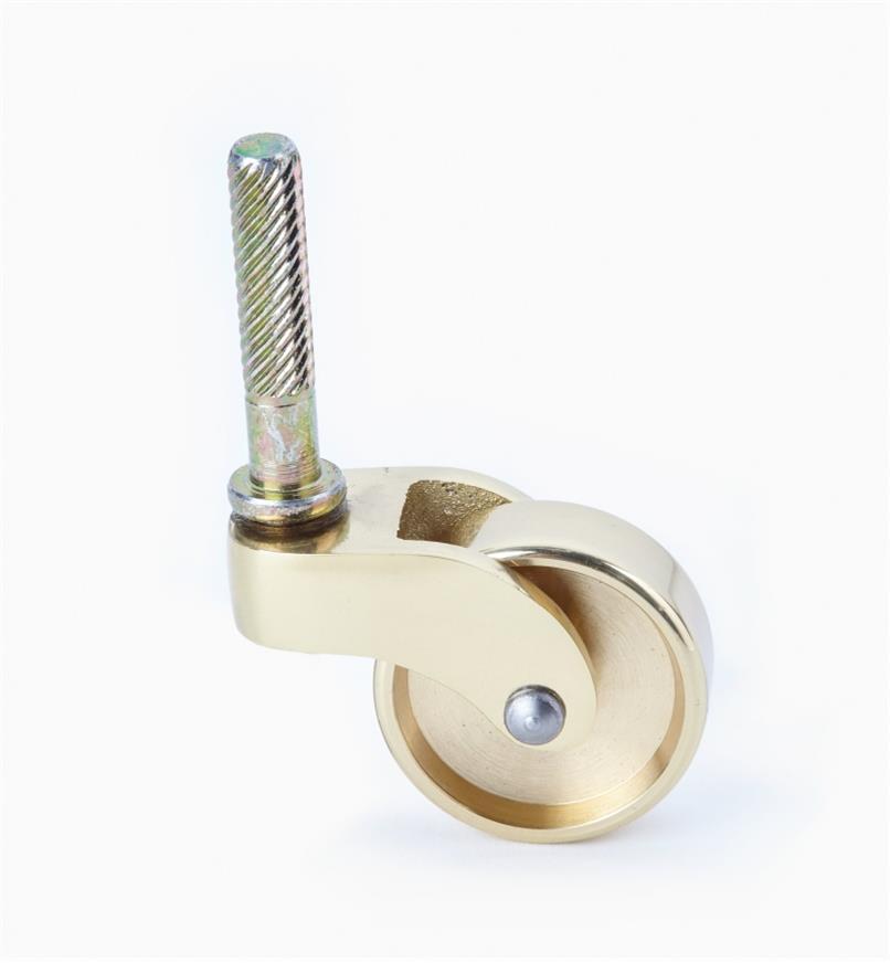00W9833 - Roulette en laiton poli avec tige de 11/4po, l'unité