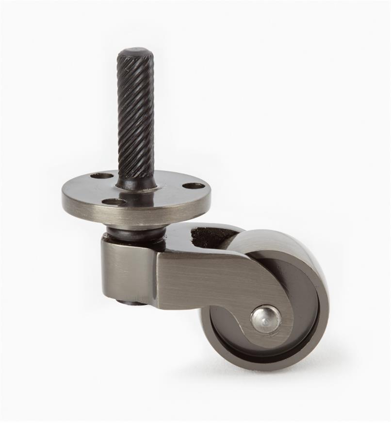 00W9840 - Roulette en nickel antique avec rondelle de 1po, l'unité